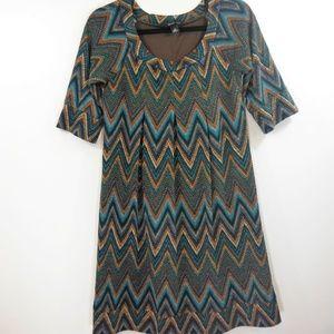 NWOT AGB Dress Geo Print Multi Color Dress - S
